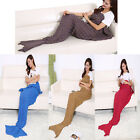 Super Soft Hand-Crocheted Mermaid Tail Blanket Adult Sofa Sleeping Bag Blankets  image