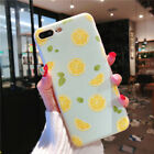 For iPhone XS 8 6s 7 Plus Cute Fruits Pattern Slim Relief Matte Soft Case Cover