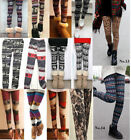 AZTEC FAIRISLE NORDIC REINDEER SNOWFLAKE CHRISTMAS KNITTED WOOL LEGGINGS 8 10