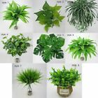 Artificial Plants Fake Leaf Foliage Bush Home Office Garden Indoor Outdoor Decor