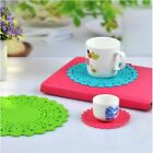 Lace Retro Placemat Insulation Pad Bowl Mat Round Hollow Coasters EN