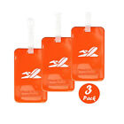 Lightweight Waterproof Silicone Bright Color Flexible Travel Luggage Tag 7 Color