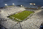 Penn State Nittany Lions vs maryland terrapins football front row upper section