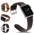 Genuine Leather Watch Band Strap Metal Buckle for Apple Watch Series 4/3/2/1 image