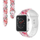 For Apple Watch Series 5/4/3/2/1 Replacement Patterned Silicone Watch Band Strap