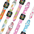 Replacement Patterned Silicone Watch Band Strap for Apple Watch Series 4/3/2/1 image