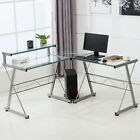L-Shape Computer Desk Corner PC Laptop Table Workstation Home Office Furniture
