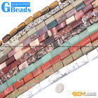 Natural 15x20mm Assorted Stones Rectangle Beads For Jewelry Making Free Shipping
