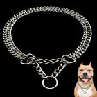 Martingale Dog Chain Collars 2 Rows Chrome Plated Dog Training Show Collar US