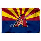 Mlb Arizona Diamondbacks Flag 3Ft X 5Ft Polyester Mlb Flag Blue Background on Ebay