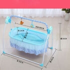 For 0~36Months Electric Baby Crib Cradle Mosquito Net Pillow Set Blue/Pink/Khaki
