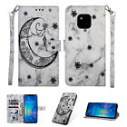 For Huawei Mate 20 Pro P20 Lite Flip Painted Leather Case Magnetic Wallet Cover