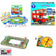 Orchard Toys Bus Stop Games Colorful Board Pieces Addition Subtraction Counting