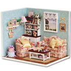 Christmas Dollhouse Miniature DIY House Kit Cute Room + Furnitiure Cover Gift