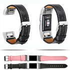 Leather Wristband Replacement Watch Band Strap Bracelet For Fitbit Charge 2 S/L