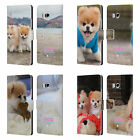 OFFICIAL BOO-THE WORLD'S CUTEST DOG PLAYFUL LEATHER BOOK CASE FOR HTC PHONES 1
