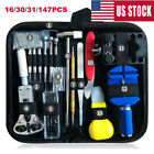 16/147PCS Watch Repair Tool Kit Case Opener Spring Bar Tool Remover with Case US image