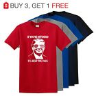 Donald Trump President Funny Political Mens T Shirt If Offended Trump T Shirt  image