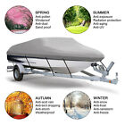14-22Ft Heavy Duty Waterproof Trailerable Fish Bass Boat Cover V shape Runabouts