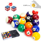 "Pool Table Billiard Balls Set 2 1/4"" Standard Size Deluxe Sports Pool Balls Set $28.59 USD on eBay"