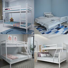 Wooden Bunk Bed Frame 3FT Single 4FT6 Double For Adult Children Kids White Pine