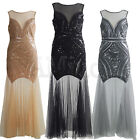 Wedding Bridesmaid Prom Sequin 1920s Flapper Dress 20s Gatsby Party Long Dresses