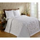 Blue Ivory Pink Sage Or White Bedspread With Or Without Shams All 4 Bed Sizes   image