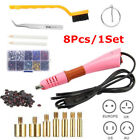 7in1 Rhinestone Setter Hotfix Hot Fix Stud Applicator Wand Heater Tool Kit Pink