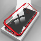 Magneto Adsorption metal case for Huawei Y9 2019 glass cover