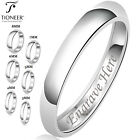 Kyпить Sterling Silver 925 Wedding Band Promise Ring Plain Comfort Fit Engravable 3-8mm на еВаy.соm
