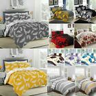 New Luxury Duvet Quilt Cover With Pillowcases Bedding Set Single, Double, King