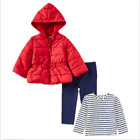 NEW!! Little Me Girl's 3-Piece Jacket(Red)  Top  and Pants Set Variety in Size