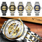 TEVISE Business Men Automatic Mechanical Stainless Steel Calendar Military Watch image