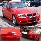Stretchable Diy Red Car Part Glossy Mirror Chrome Vinyl Wrap Sticker Sheet - Ab