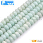 Natural Amazonite Stone Rondelle Spacer Beads for Jewelry Making Strand 15""