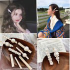 Fashion Women Pearl Hair Clip Snap Barrette Stick Hairpin Bobby Hair Accessories