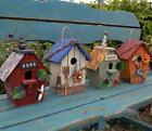 Handmade Wooden Bird Cage Outdoor and Retro Gardening Bird Nest Decorations