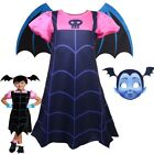 Vampirina Cosplay Costume Kids Girls Dress Skirt Wings Mask Party Outfit Clothes