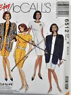 McCalls Sewing Pattern # 6512 Women's Unlined Jacket and Dress Choose Size