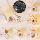 100 Languages Light Projection I Love You Charm Jewelry Pendant Necklace