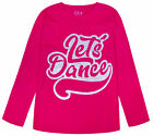 Girls Cotton Top Long Sleeve Glitter Dance Jumper Age 6 7 8 9 10 11 12 13 14 15Y