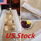 Usa Burlap Hessian Wedding Table Runner Natural Jute Rustic Party Country Decor