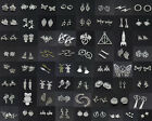 100 Different Styles Of Tibetan Silver Fashion Charms Pendant Crafts DIY Jewelry $0.99 USD on eBay