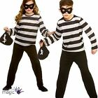 Childs Girls Boys Sneaky Robber Burglar Book Week Fancy Dress Outfit Mask + Bag