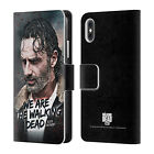 THE WALKING DEAD RICK GRIMES LEGACY LEATHER BOOK CASE FOR APPLE iPHONE PHONES