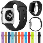 Replacement Silicone Sport Band Strap For Apple Watch 42mm 38mm Series 3 2 1 image