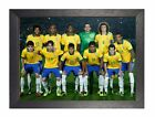 Brazil Team 2014 Footbool Motivation Determination Poster Yellow Players Photo