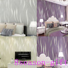 10M 3D Stripe Wave Wall Paper Roll Wallpaper Bedroom TV Background Home Decor