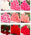 Large Open Rose Silk Artificial Fake Flower Single Stem Home Party Bouquet Decor