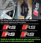 Audi RS Brake caliper decal sticker fit RS style caliper Option 3